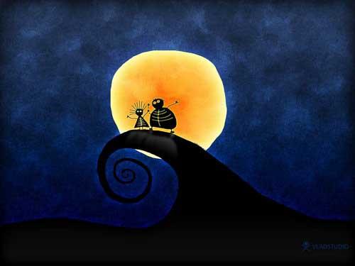 Луна утром